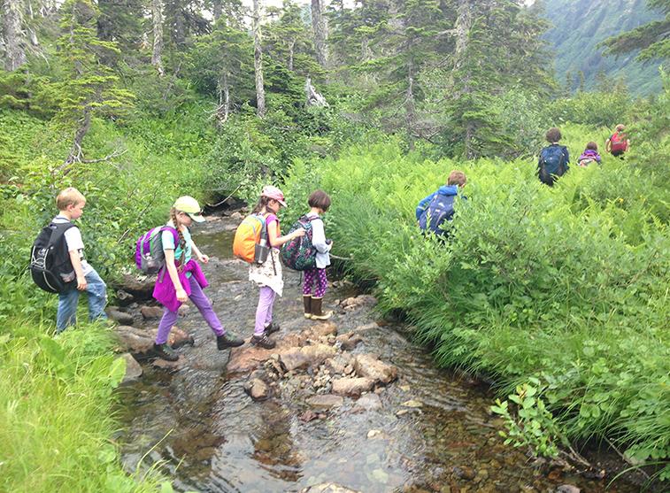 Outdoor Explorers, stream crossing